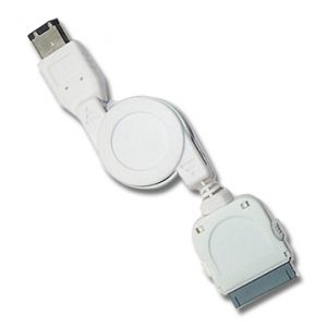 Retractable iPod / iPad / iPhone to Firewire Cable