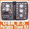 Retractable Travelling Kit with USB hub, optical mouse plus more than 10 adapters-0