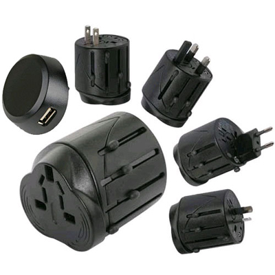 World Travel Adapter with USB port-91